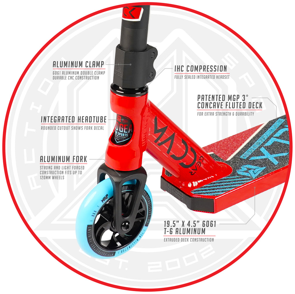 MADD GEAR KICK EXTREME SCOOTER RED / BLUE