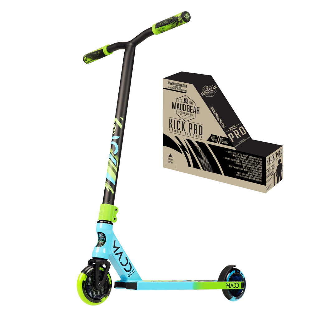 MADD GEAR KICK PRO 2021 SCOOTER BLUE / GREEN