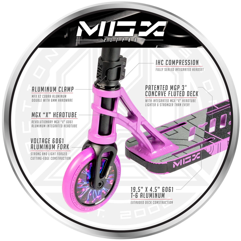 MGX P1 PRO PURPLE / PINK SCOOTER