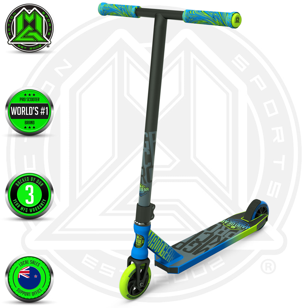 MADD GEAR KICK PRO SCOOTER BLUE / GREEN MAIN