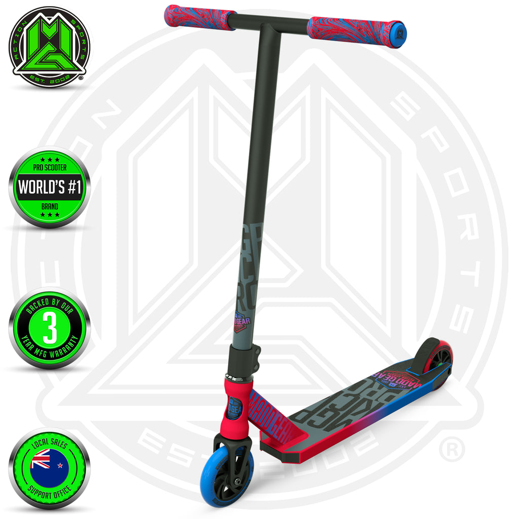 MADD GEAR KICK PRO SCOOTER RED / BLUE MAIN