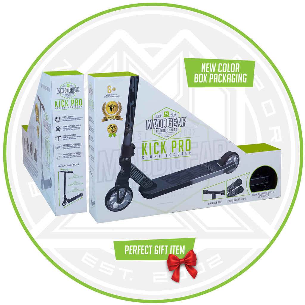 MADD GEAR KICK PRO SCOOTER BLACK / SILVER BOX