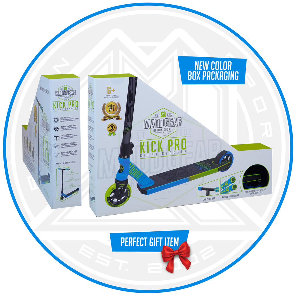 MADD GEAR KICK PRO SCOOTER BLUE / GREEN BOX