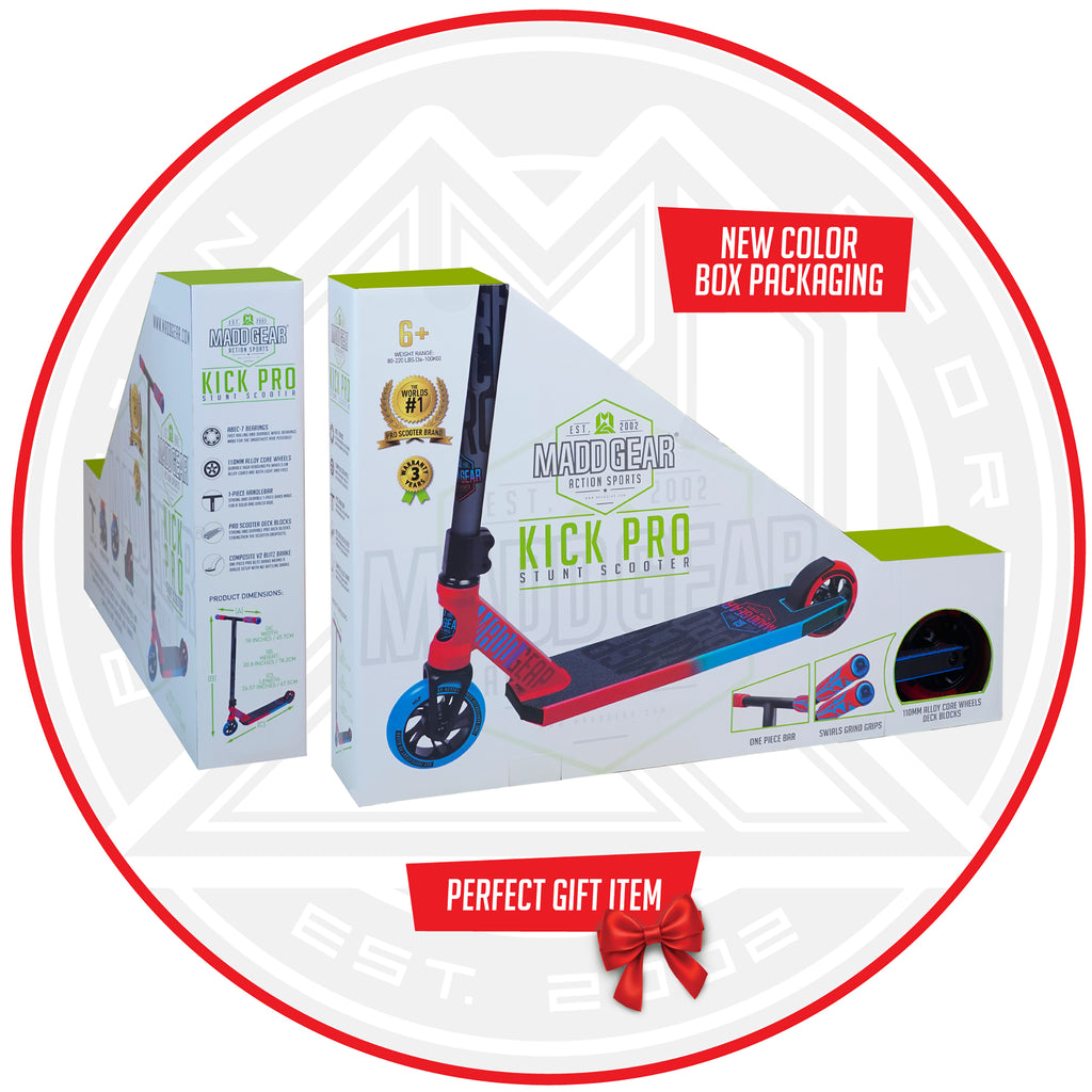 MADD GEAR KICK PRO SCOOTER RED / BLUE BOX