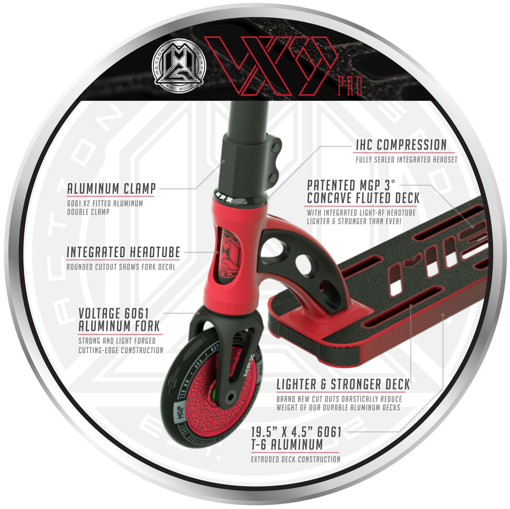 VX9 PRO SCOOTER RED / BLACK