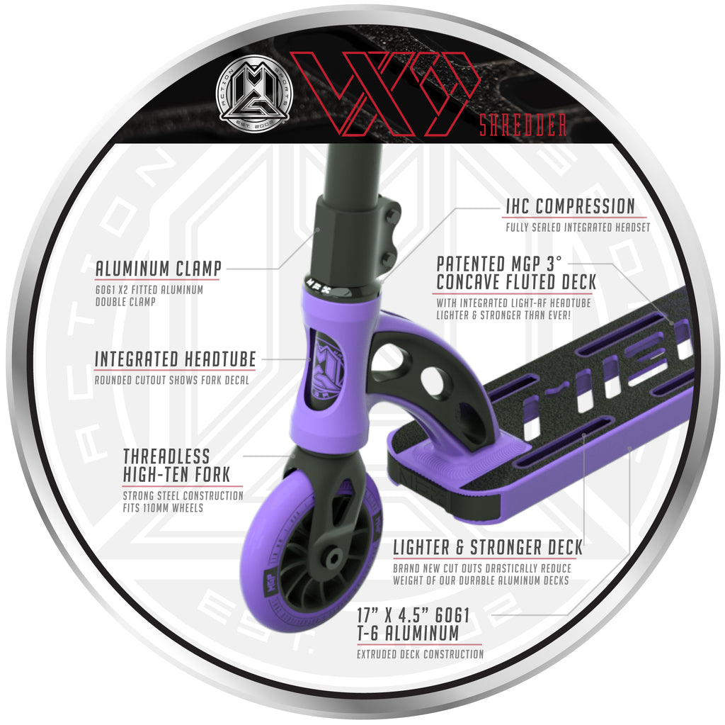 VX9 SHREDDER SCOOTER PURPLE