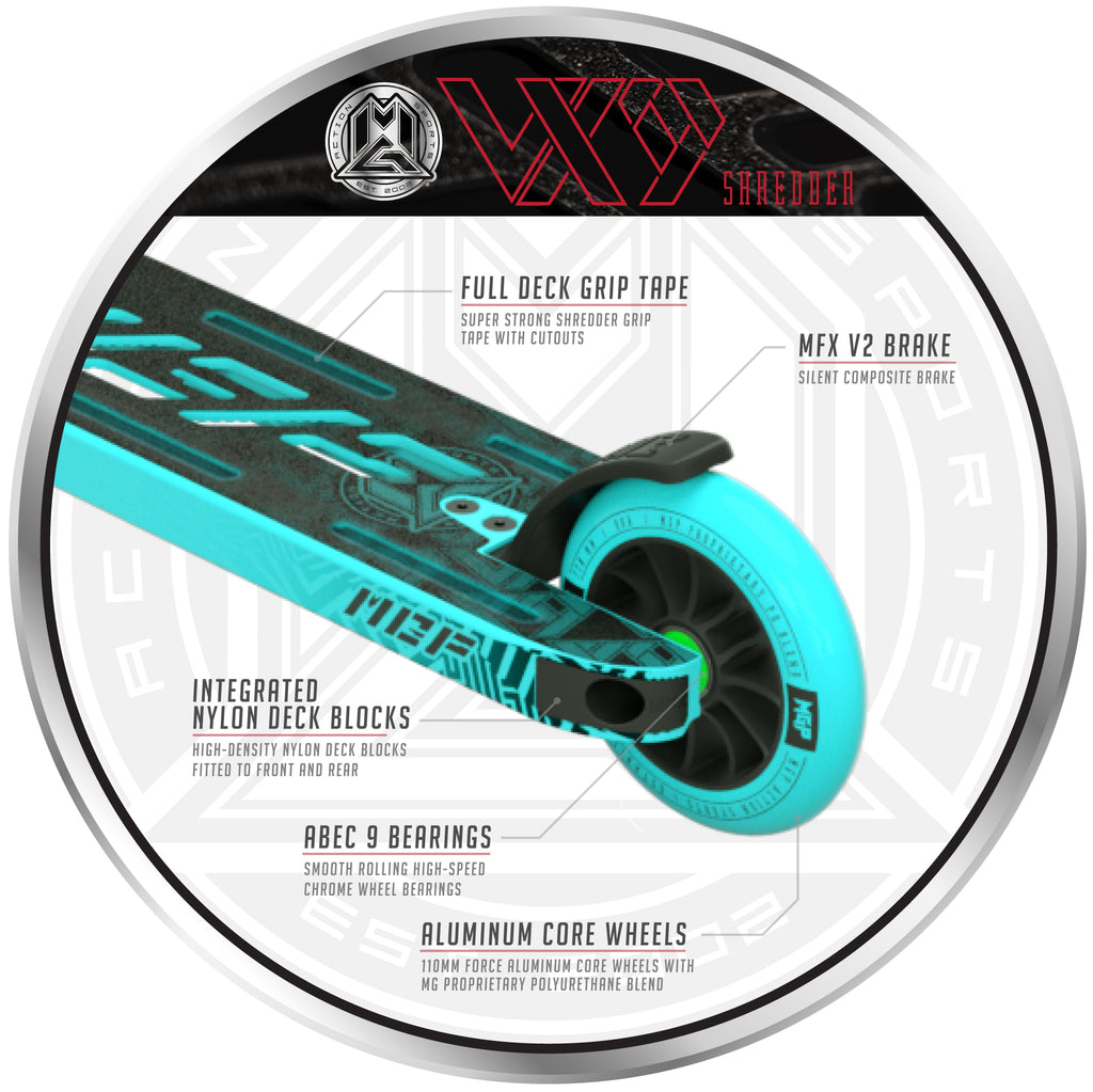 VX9 SHREDDER SCOOTER TEAL
