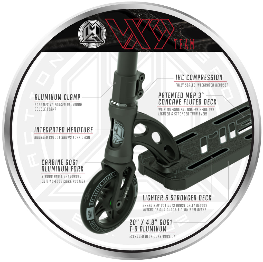 VX9 TEAM SCOOTER BLACK