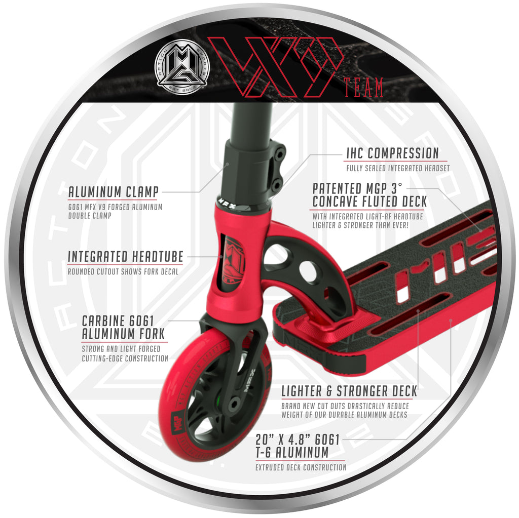 VX9 TEAM SCOOTER RED