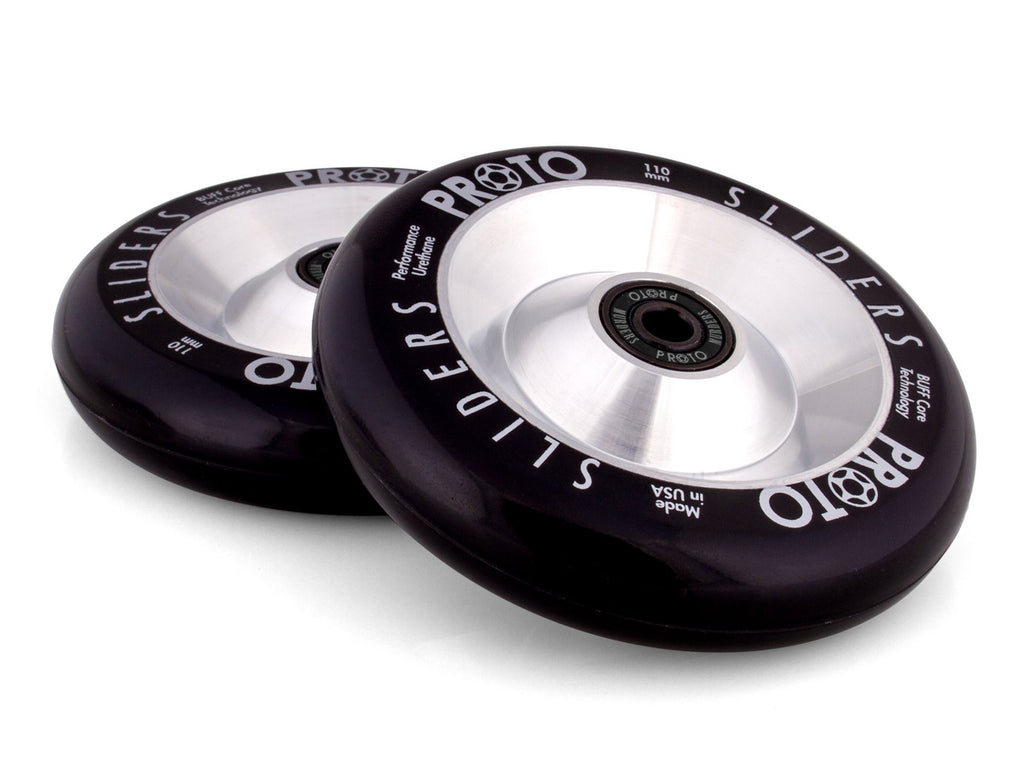 PROTO FULL CORE SLIDERS 110MM WHEELS BLACK / SILVER 2 PACK