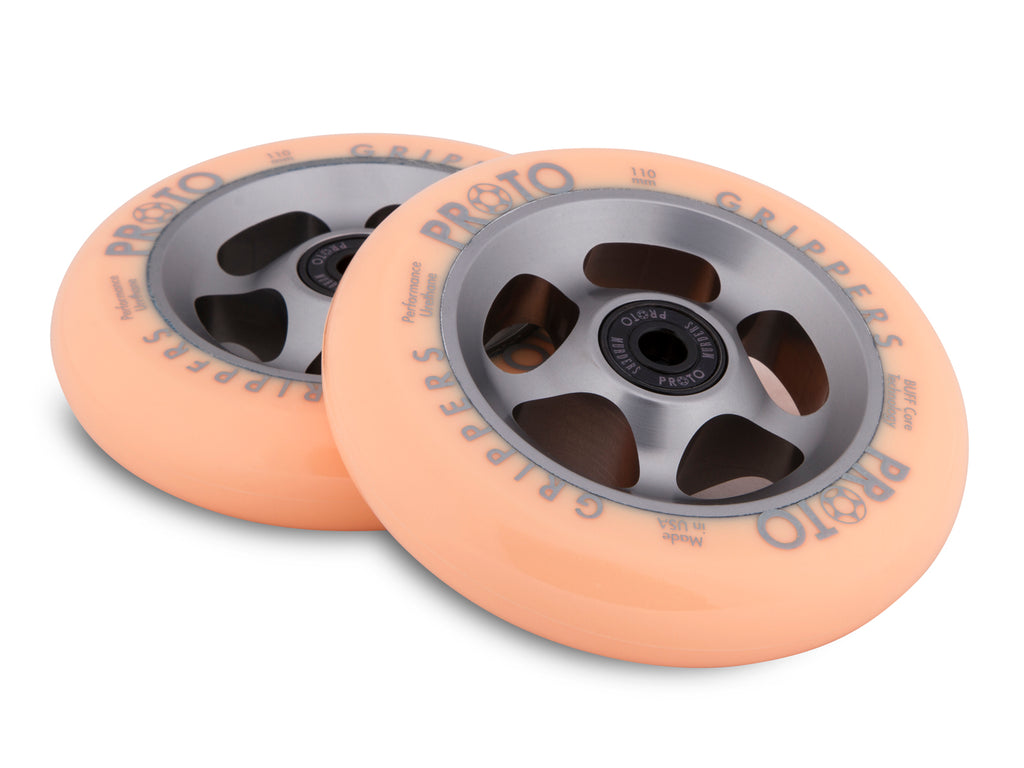 PROTO FADED GRIPPERS 110MM WHEEL ORANGE / GREY 2 PACK