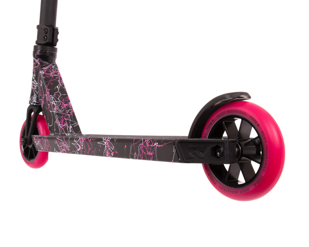 ROOT TYPE R MINI SCOOTER SPLATTER PINK / WHITE
