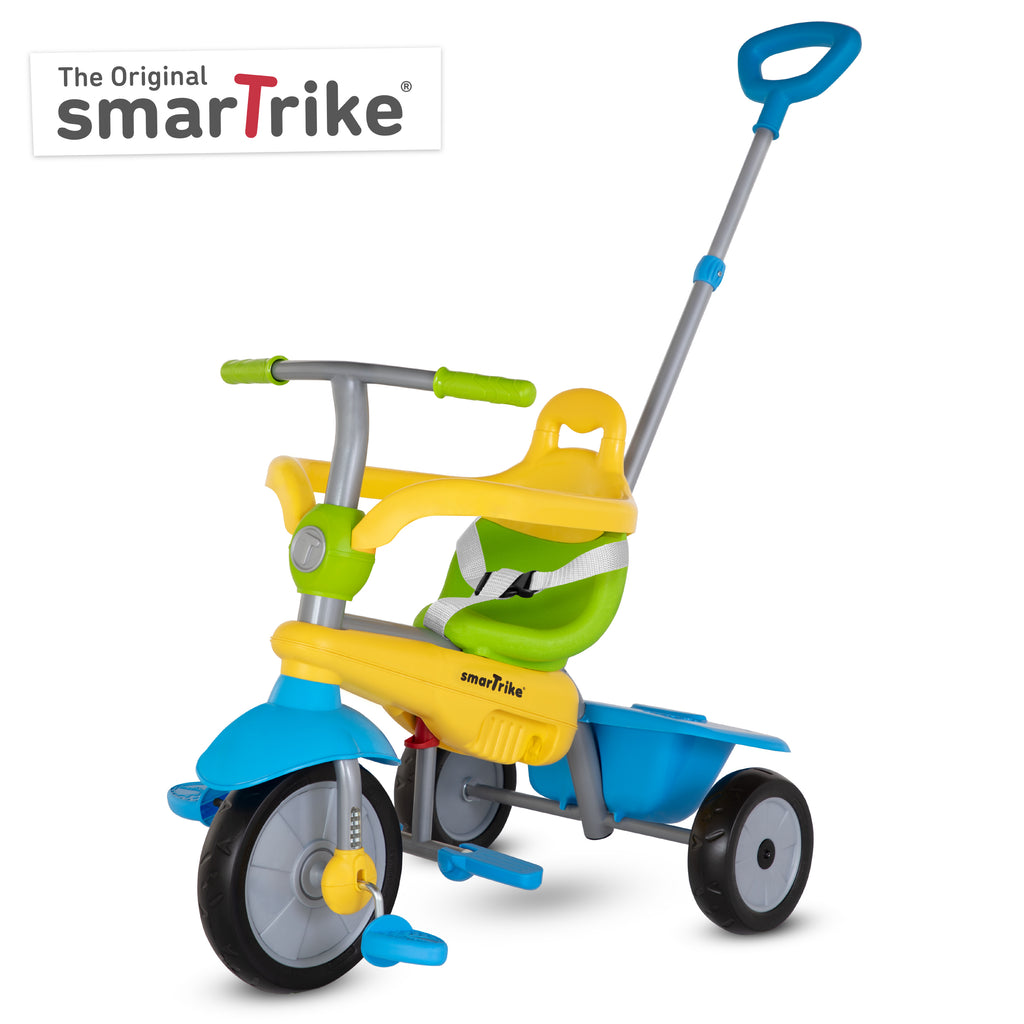 SMARTRIKE LOLLIPOP. 3 IN 1 TRICYCLE - GREEN / YELLOW