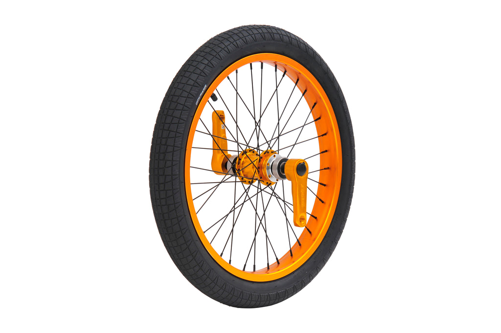 TRIAD DYNASTY FRONT WHEEL SET ANODIZED ORANGE