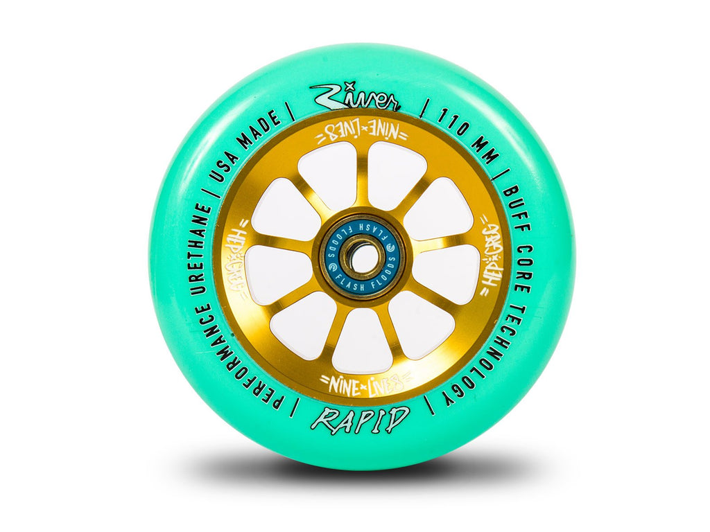 RIVER WHEELS NINE LIVES RAPIDS 110MM WHEELS GREG COHEN SIG 2 PACK