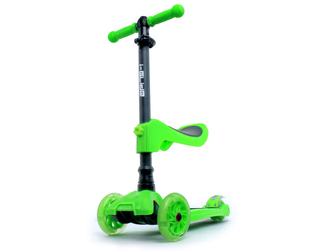 I-GLIDE 3 WHEELED SCOOTER GREEN W/ SEAT MAIN