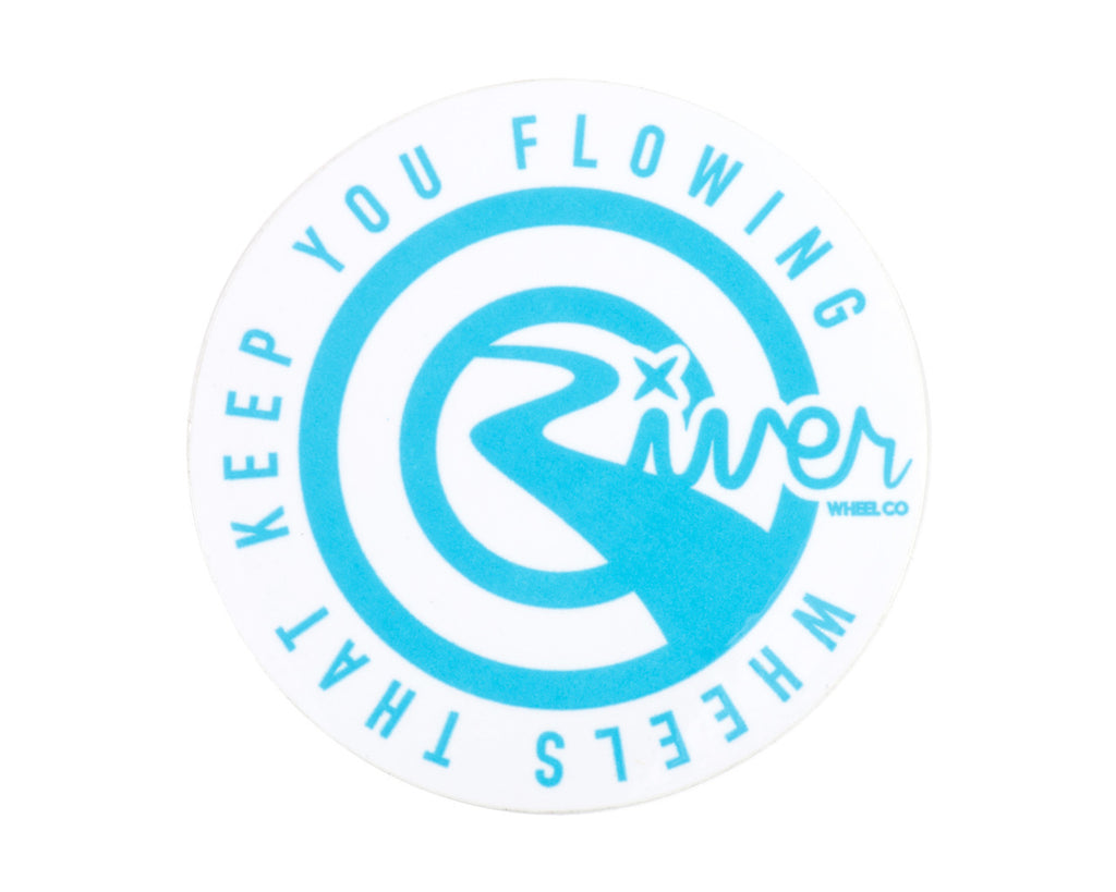 RIVER WHEEL CO TAGLINE STICKER
