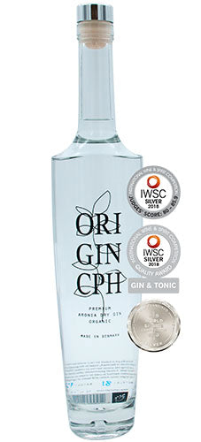 OriGinCph Aronia Dry Gin, Premium Cold Distilled Gin, Organic, 50cl