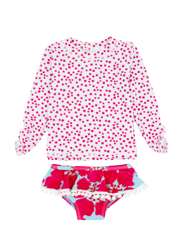 Load image into Gallery viewer, BABY GIRL SANDY TOES 2-PIECE RUFFLE SET LS