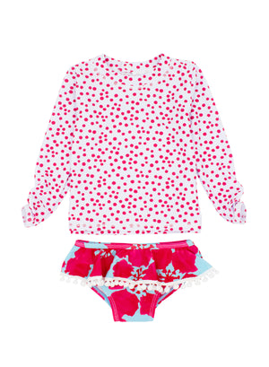 BABY GIRL SANDY TOES 2-PIECE RUFFLE SET LS