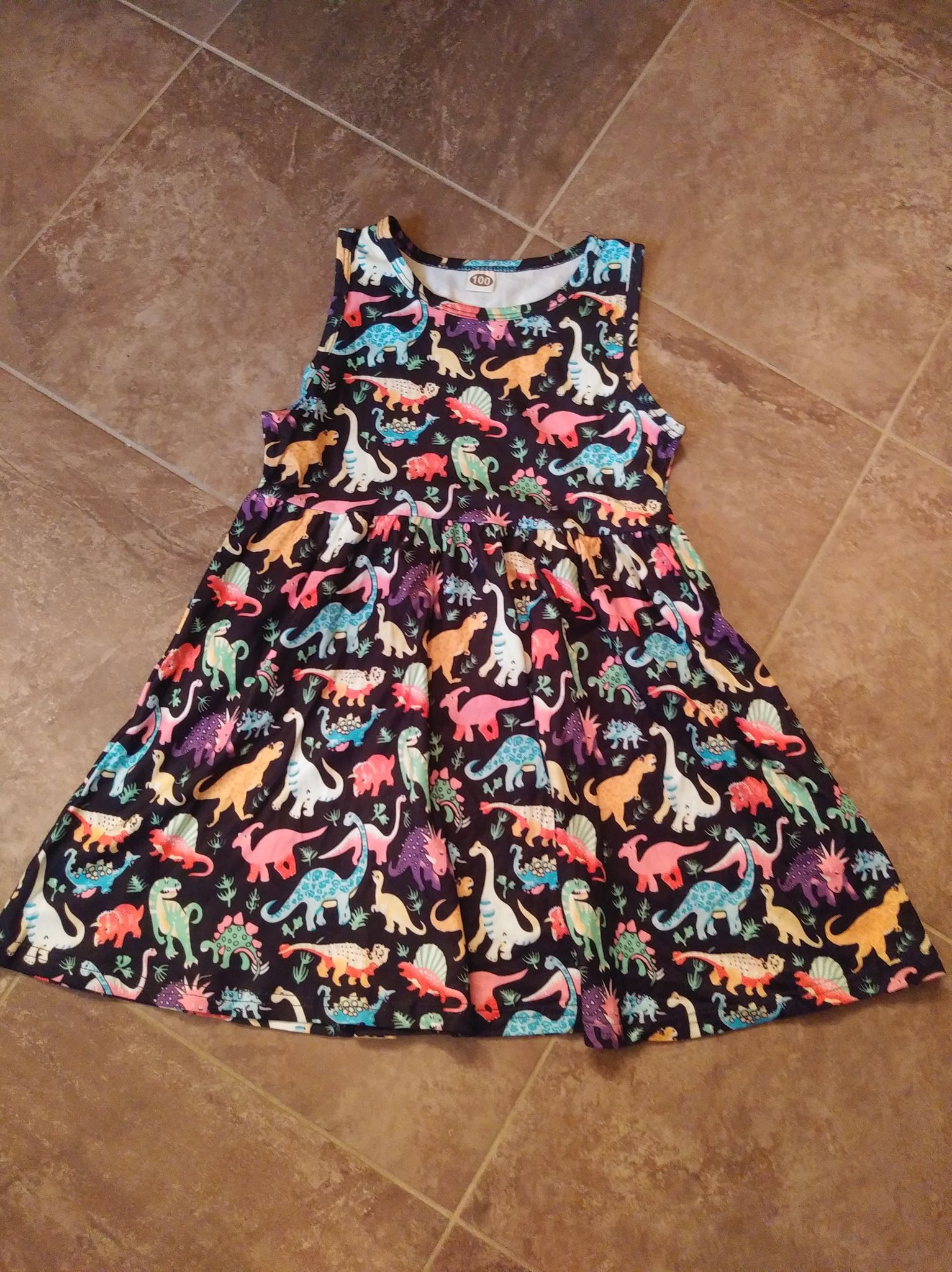 Cute Dino Dress For Your Little Diva
