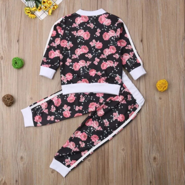 Cute Floral 2 Piece Jogger Pitfit