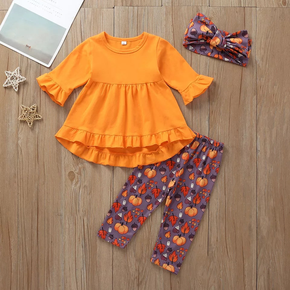 Adorable Fall/Halloween Girls Outfit