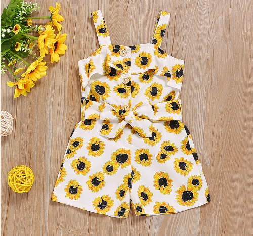 Pretty Little Sunflower Romper