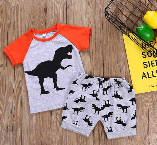 Dinosaur Short Set Outfit