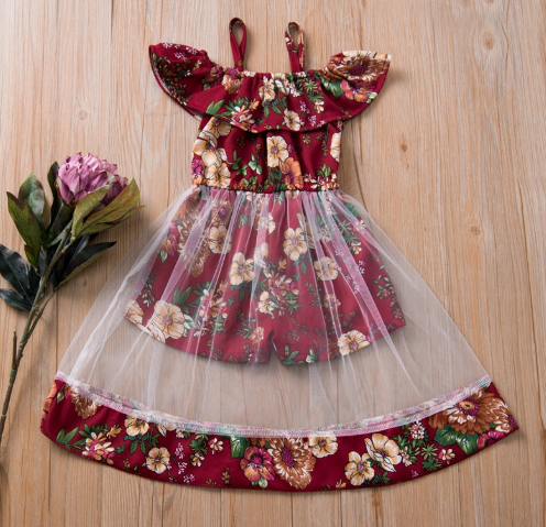 Beautiful Floral Allover Tulle Faux