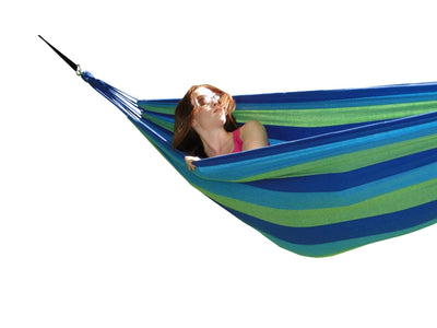 Brazilian Double Hammock in Blue and Green