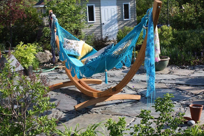 Hammock Universe Hammocks with Stands celeste-aqua Nicaraguan Hammock with Eco-Friendly Bamboo Stand