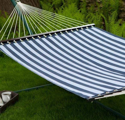Hammock Universe Hammocks blue-and-white-stripes Poolside | Lake Hammock - Double