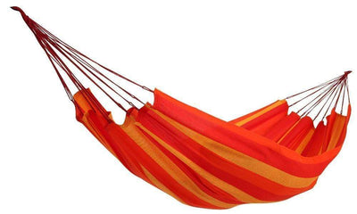 Hammock Universe Hammocks red-orange-and-yellow-stripes Brazilian Style Double Hammock