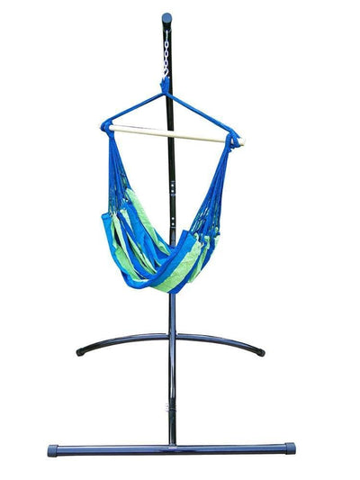 Hammock Universe Hammocks with Stands Blue and Green Stripes Brazilian Hammock Chair with Universal Chair Stand