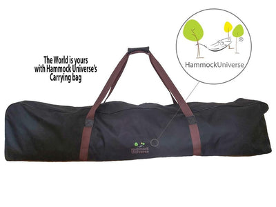 Hammock Universe Hammocks Olefin Double Hammock with Matching Pillow - Quick Dry and 3-Beam Stand