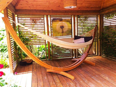 Hammock Universe Hammocks with Stands Hot Colors XL Thick Cord Mayan Hammock with Bamboo Stand