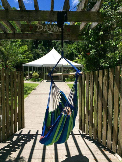Hammock Universe Hammock Chairs Blue and Green Stripes Brazilian Hammock Chair