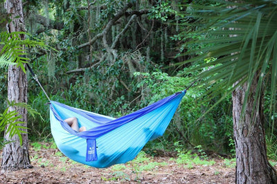 Hammock Universe Hammocks Navy and Light Blue Parachute Expedition Hammock - Double