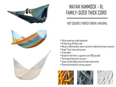 Hammock Universe Hammocks with Stands Hot Colors XL Thick Cord Mayan Hammock with Universal Stand
