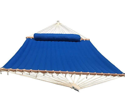 Hammock Universe Hammocks light-blue Olefin Double Quilted Hammock with Matching Pillow