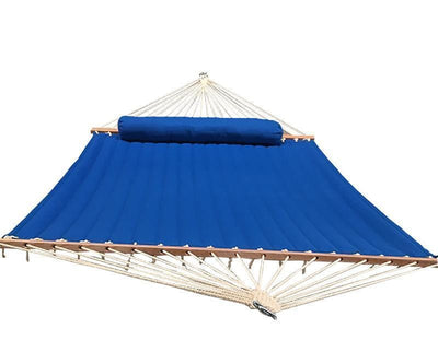 Hammock Universe Hammocks Olefin Double Quilted Hammock with Matching Pillow with 3-Beam Stand