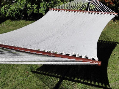 Hammock Universe Hammocks with Stands Cream Deluxe Polyester Rope Hammock with 3-Beam Stand