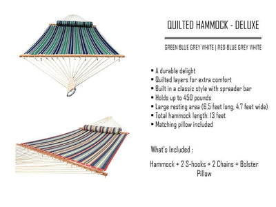 Hammock Universe Hammocks with Stands country-beige Deluxe Quilted Hammock with Wicker Stand