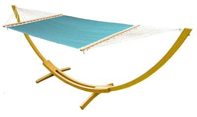 Hammock Universe Hammocks with Stands light-blue-patterns Poolside | Lake Hammock with Bamboo Stand