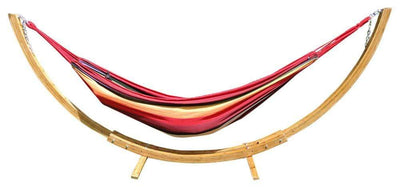 Hammock Universe Hammocks with Stands Blue and Green Stripes Brazilian Style Double Hammock with Bamboo Stand