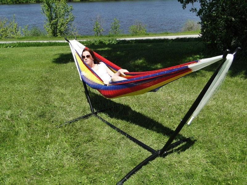 Hammock Universe Hammocks with Stands Hot Colors Double Mayan Hammock with Universal Stand