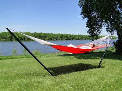 Hammock Universe Hammocks with Stands red Poolside | Lake Hammock with 3-Beam Stand