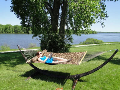 Hammock Universe Hammock Stands Dark Brown Wicker Hammock Stand