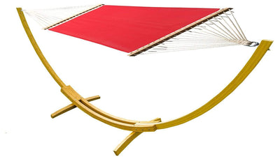 Hammock Universe Hammocks with Stands red Poolside | Lake Hammock with Bamboo Stand